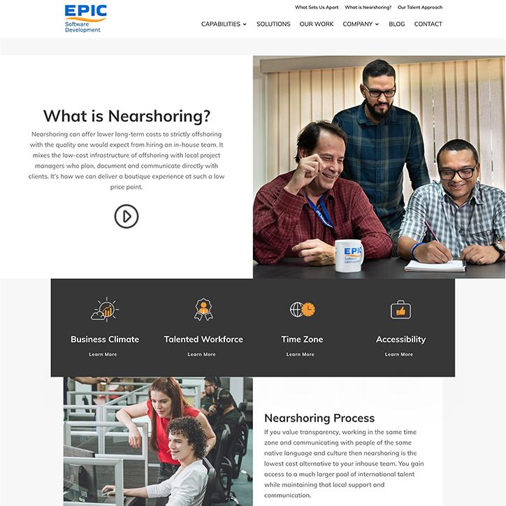 Epic Software Development web design